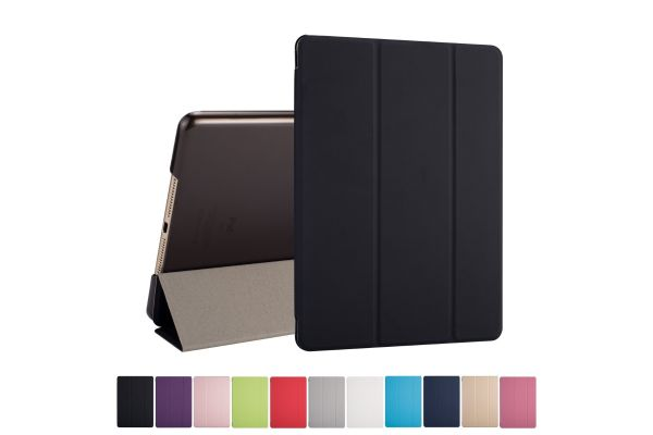 iPad 2017 9.7 inch Hard Tri-Fold Book Cover Zwart