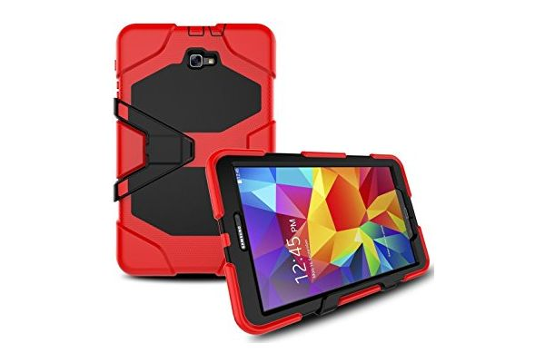 Samsung Tab A 10.1 (A6) heavy duty survivor case rood T580 - T585