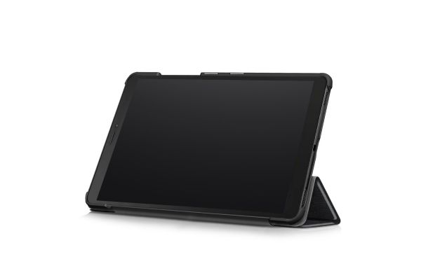 Samsung Galaxy Tab A 8.0 inch model 2019 Hard Tri-Fold Book Cover zwart