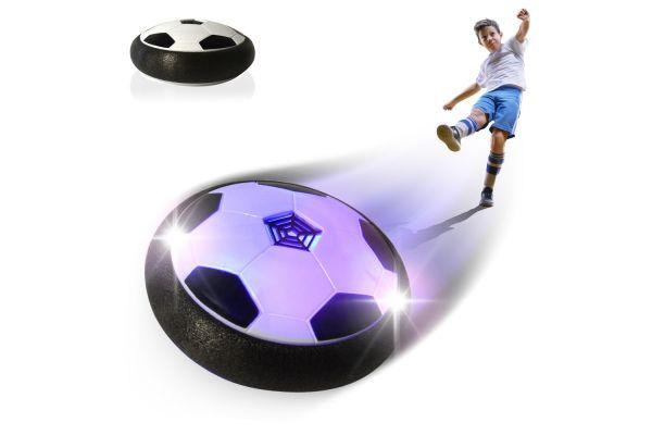 Hoverball zwart / wit voetbal op lucht voor binnen