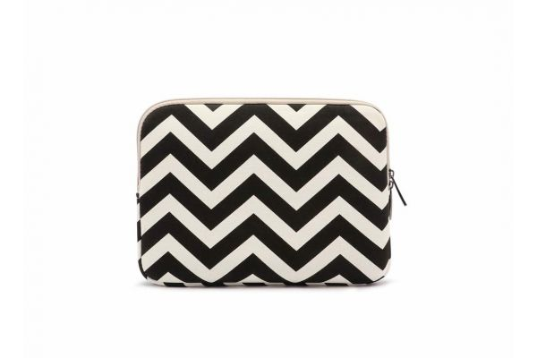 Sleeve tot 10.1 inch iPad - tablet hoes met print (black stripes)