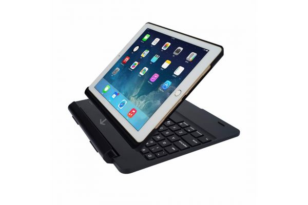 iPad Air 1 Case Bluetooth verlicht Afneembaar toetsenbord Zwart