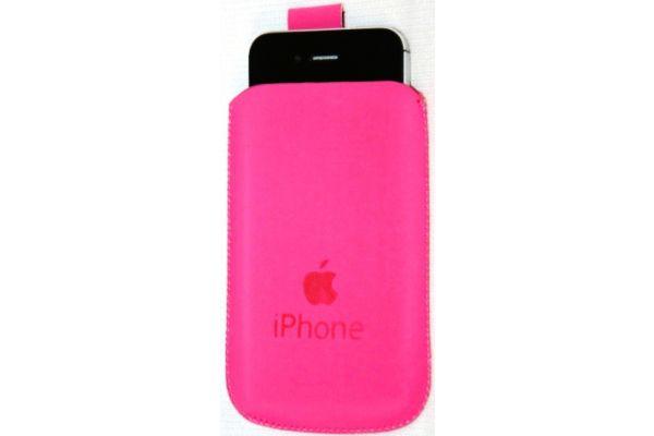 iPhone 3/4/4S Pouch van PullUp Leer-Roze