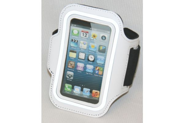 Sportarmband voor de iPhone 3GS/4/4S in Wit Leer