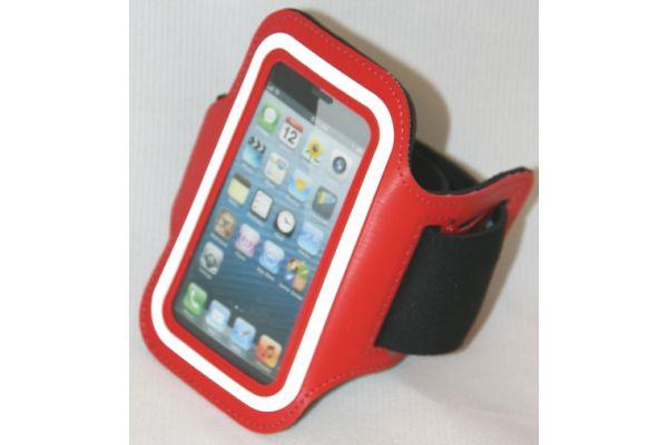 Sportarmband voor de iPhone 3GS/4/4S Leer Rood