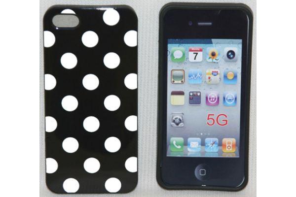 iPhone 5 | 5S Hoesje hardcase Polka Dots Zwart-Wit