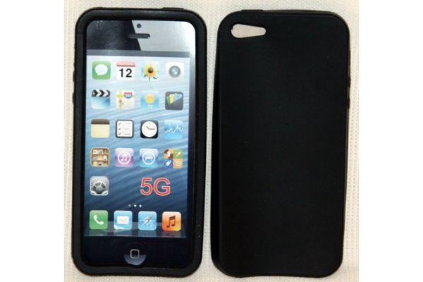 iPhone 5 | 5S Hoesje Siliconen Zwart