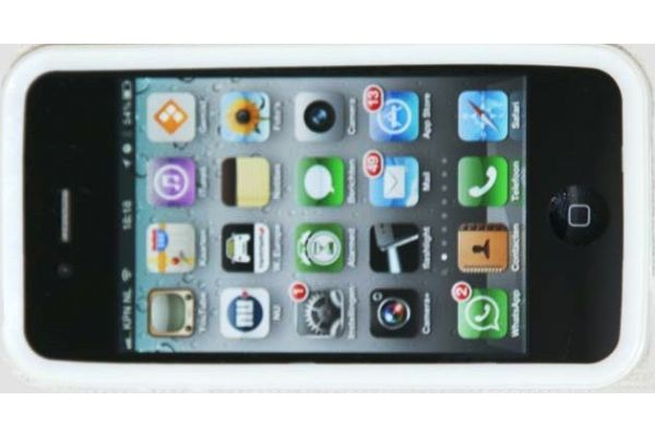 iPhone 4 / 4S  Siliconen Bumper Wit