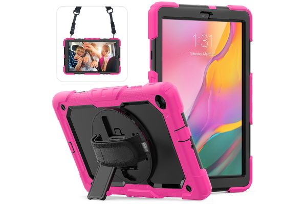 Samsung Tab A 10.1 2019 draaibare Bumper Case roze