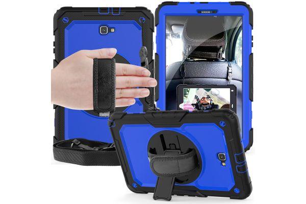 Samsung Tab A 10.1 model 2016 draaibare Bumper Case blauw