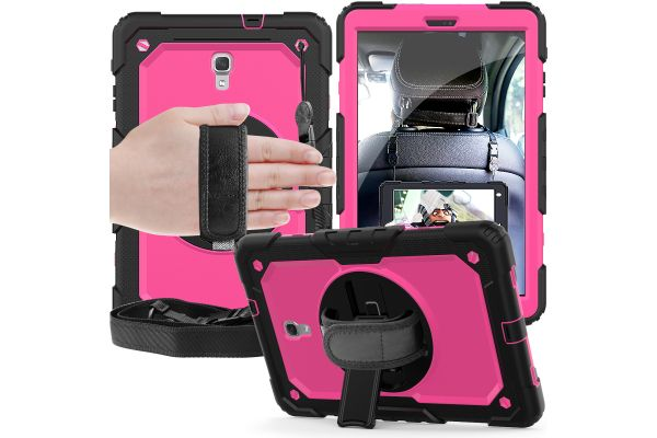 Samsung Tab A 10.5 draaibare Bumper Case roze