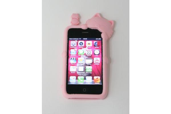 iPhone 3GS Hoesje Diffie de Kat Roze
