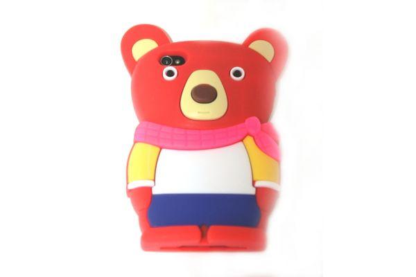 iPhone 4 | 4S Hoesje Wolf Rood met kleur