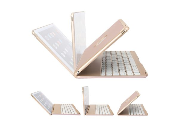 iPad Air 2 Case Bluetooth verlicht Toetsenbord Rose Goud