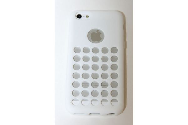 iPhone 5C Hoesje met gaatjes Wit