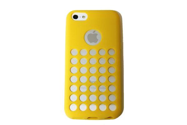 iPhone 5C Hoesje met gaatjes Geel