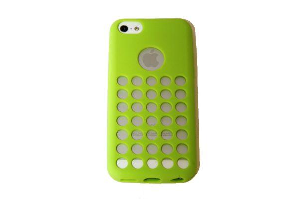 iPhone 5C Hoesje met gaatjes Groen