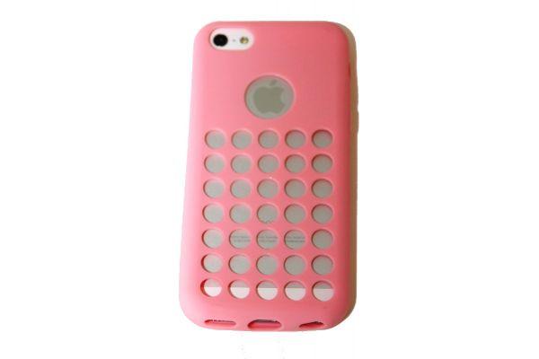 iPhone 5C Hoesje met gaatjes Roze