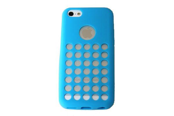 iPhone 5C Hoesje met gaatjes Blauw