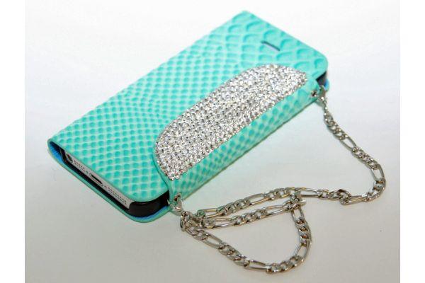 iPhone 5/5S Hoesje - Tasje met Swarovski Crystals Jade groen