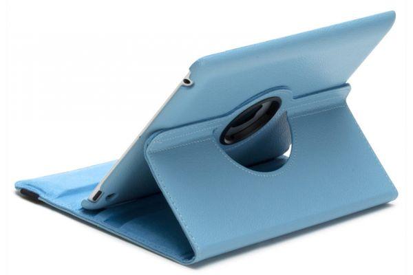 iPad Air 1 PU leren Draaibare Hoes Lichtblauw