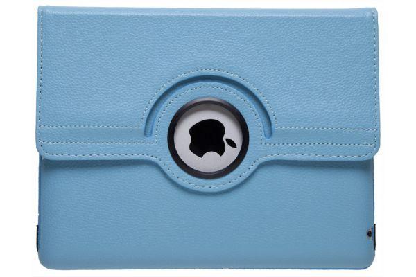 iPad Mini 1-2-3 PU Leer Draaibare Hoes Lichtblauw