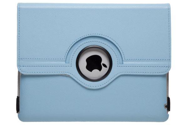 iPad 2-3-4 PU Leren Draaibare Hoes Lichtblauw