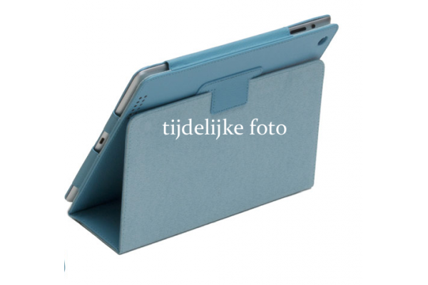 Tablet Samsung Tab S- 10.5 T800 Leren Book Cover lichtblauw