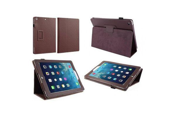 iPad 2-3-4 PU Leren Book Cover DonkerBruin