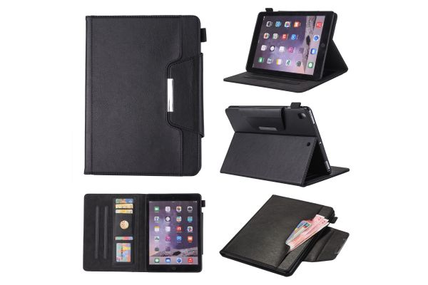 iPad Air 2 Book Cover Deluxe Zwart