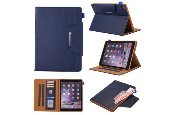 iPad Air Book Cover deluxe blauw