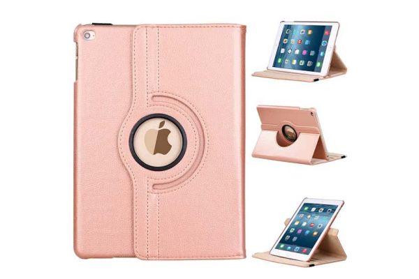 iPad 2017 9.7 PU leren draaibare hoes rose goud