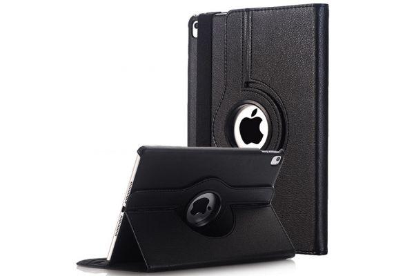 iPad 9.7 (2017) PU leren draaibare hoes zwart