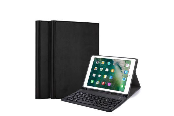 iPad 2017 9.7 inch hoes met toetsenbord Ultra Slim Ultra Protection Zwart