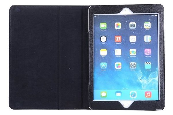 iPad Air 1 Book Cover PU leer Zwart