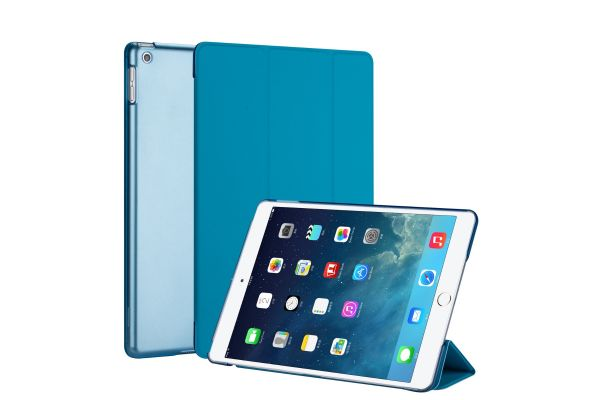 iPad 2019 10.2 inch Hard Tri-Fold Book Cover Blauw