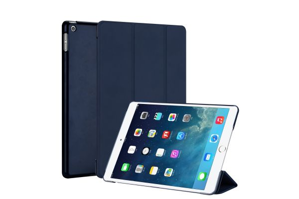 iPad 2019 10.2 inch Hard Tri-Fold Book Cover Donkerblauw