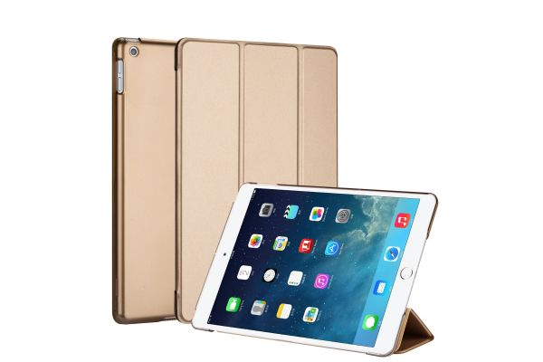iPad 2019 10.2 inch Hard Tri-Fold Book Cover Goud