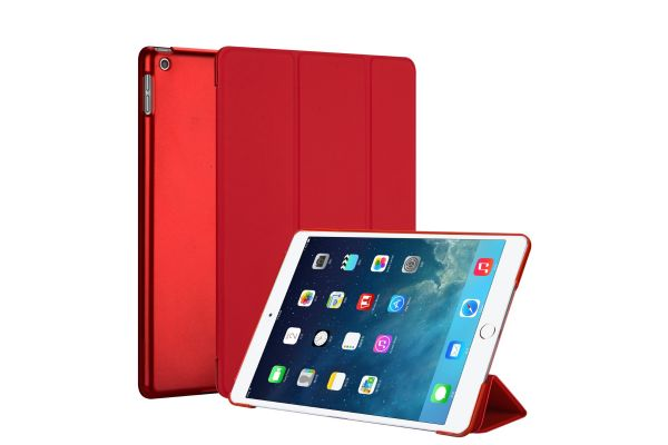 iPad 2019 10.2 inch Hard Tri-Fold Book Cover Rood