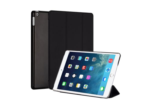 iPad 2019 10.2 inch Hard Tri-Fold Book Cover Zwart