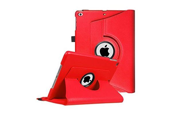 iPad 9.7 (2017) PU leren draaibare hoes rood