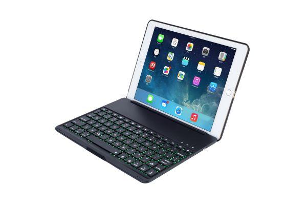 iPad 2017 9.7 inch Case Bluetooth verlicht toetsenbord Zwart