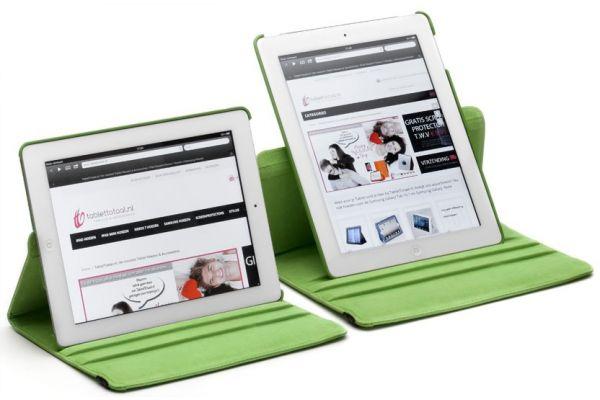 Tablet PU Leer iPad Pro 9.7 inch Draaibare Hoes groen