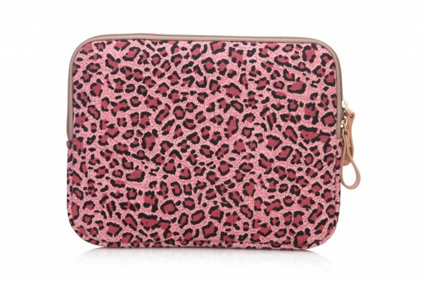 Sleeve tot 10.1 inch iPad - tablet hoes met print (panter roze)