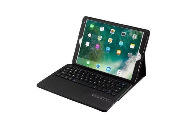iPad Pro 10.5 luxe hoes met uitneembaar Bluetooth Toetsenbord Zwart