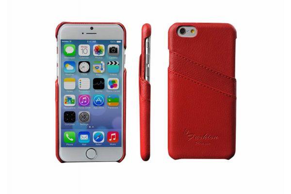 iPhone 6s echt lederen back cover / wallet rood merk Fashion