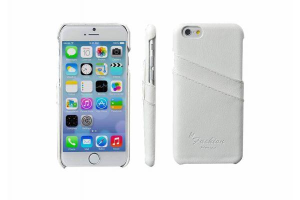 iPhone 6s echt lederen back cover / wallet wit merk Fashion