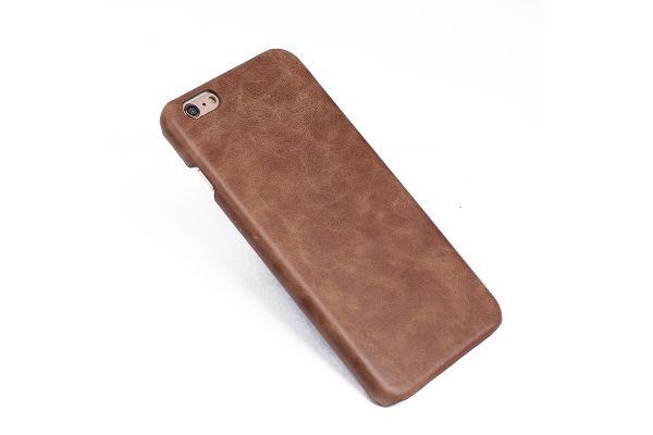 iPhone 6s echt lederen back cover bruin merk Fashion