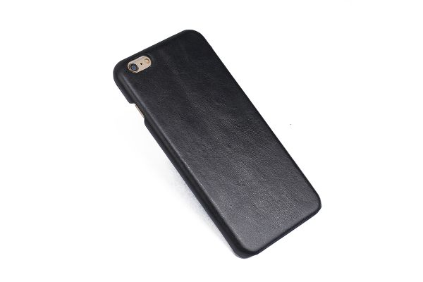 iPhone 6s plus echt lederen back cover zwart merk Fashion