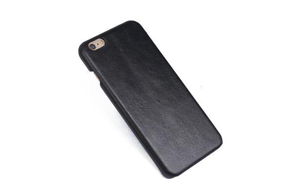 iPhone 6s echt lederen back cover zwart merk Fashion